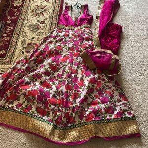 Anarkali salwar kameez indian dress small